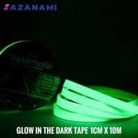 GLOW IN THE DARK TAPE 1CM X 10M GLOW TAPE STICKER FOSFOR LAKBAN FOSTOR