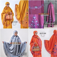 MUKENA BORDIR MILANO KATUN PARIS EXCLUSIVE | MOROCCO HIJAB