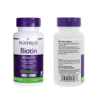 NATROL Biotin 10,000 mcg 100 counts MAXIMUM STRENGTH