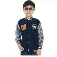 Jaket Bermerk Anak Laki-laki The Team - Sweater Baseball Anak Blue TD