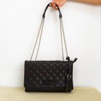 tas Original guess elliana covertible black bag