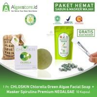 PAKET HEMAT Sabun Wajah CHLOSKIN Chlorella + Masker NEOALGAE Spirulina