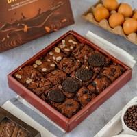 Brownies Mix Topping   Signature Brownies Panggang Coklat Diana Bakery