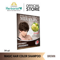 Miranda Magic Hair Color Shampoo - Brown 30ml