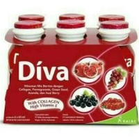 Diva beauty drink (collagen & vit E ) isi 6 botol