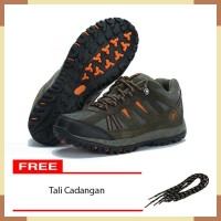 Sepatu Sport Gunung/Hiking/Outdoor KETA 427 Green Orange ( Semi