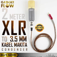 Kabel XLR 3 PIN to 3.5 mm MAKITA 2 Meter - Mikrofon BM800 BM8000 BM700