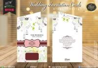 Undangan Pernikahan Vintage Bunga Line Art Full Colour