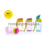 Tupperware Fashion Eco Bottle 310ml - Orange tempat minum botol air