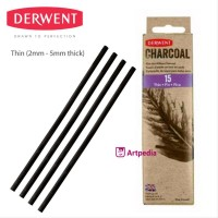 AT 1975 DERWENT WILLOW CHARCOAL THIN 15 CHARCOAL PENCIL PENSIL DERWENT