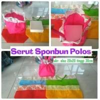 TAS SPUNBOND Serut 20x20 PLS Souvenir Wedding PErnikahan Goodie Bag