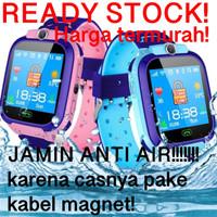 Smartwatch Jam Tangan Anak Pintar Waterproof GPS Tracker Anti air Q12