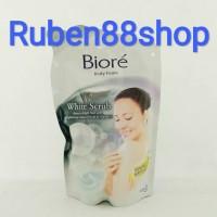 Sabun Biore Body Foam WHITE SCRUB 450ml
