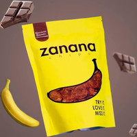 ZANANA CHIPS (KERIPIK PISANG) RASA BROWN CHOCOLATE - RASA COKLAT
