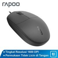 Terlaris Mouse Office Rapoo N100 Original Garansi Resmi - Hitam