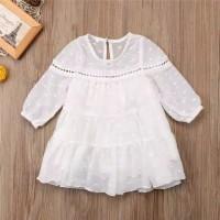 dress bayi perempuan putih tutu tile cantik