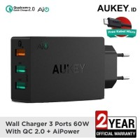 Aukey Charger USB 3 Port EU Plug 42W with QC 2.0 & AiPower - PA-T2
