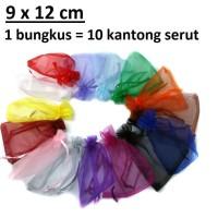 Kantong Serut Dompet Pouch Bungkus Souvenir Packing 9 x 12 cm
