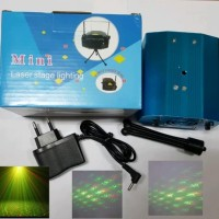 Mini Laser Stage Lighting Sensor Musik Lampu Disco Party