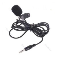 Clip On Mic Universal 3.5mm Jack Audio Microphone Vlog Youtuber