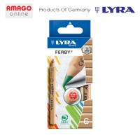 LYRA FERBY NATURE - COLOR PENCIL - 6 COLORS - 3611060 PENSIL WARNA