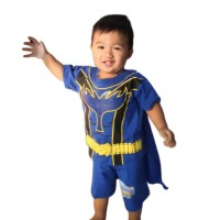 Setelan Pendek Power Rangers Kaos Baju Anak Laki Laki Cowok Superhero