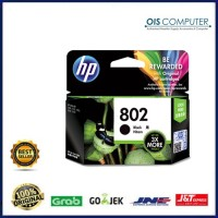 Tinta HP 802 XL Black 3x More Pages Original , tinta printer HP ori