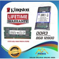 KINGSTON RAM MEMORY DDR3 PC3 8GB 8 GB 12800 1600 MHz SODIMM LAPTOP OR