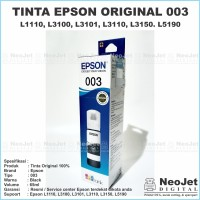 Tinta Printer Original Epson 003 Black Hitam L1110 L3110 L3150 Ori