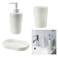 ENUDDEN 1 Set isi 3 yaitu tempat sabun batang dispenser sabun cair dan