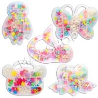 DIY Beaded Puzzle Mote Kotak Hello Kitty DIY Kalung Bikin Gelang Anak
