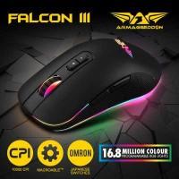 Mouse Gaming Armaggeddon Falcon III RGB -10000CPI Latest IR LED