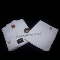 Baju Taekwondo (Dobok) Merk EMPRO New Desain Kerah Putih