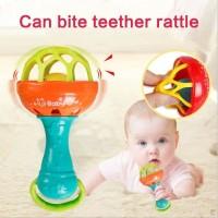 TEETHER RATTLE STICK SINGLE / KRINCINGAN MAINAN GIGITAN BAYI BPA FREE