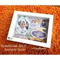 Frame foto 3D Rongga 6R/A5/20x15 Pop UP kayu Frame Minimalis