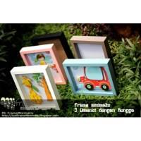 Frame foto 3D Rongga 8R (20x25cm) Pop UP/ Bingkai Frame Minimalis Kayu