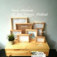 Frame foto 3D Rongga 12R/A3/30x40 Pop UP kayu Frame Minimalis untuk
