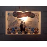 Lampu scrap frame foto / pop up / box D3 3 dimensi acrylik hadiah kado