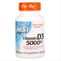 Doctors Doctor Best Vitamin D-3 D3 5000IU 5000 IU 180 Sg Now Foods