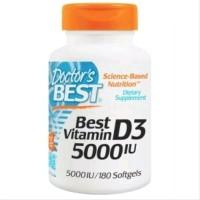 Vitamin D3 5000 UI - Doctors Best D3 5000IU Isi 180 Softgels