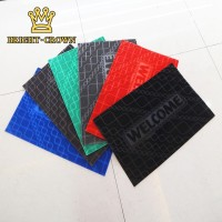 Keset Dot 40x60cm Karpet 1 Warna Bahan PVC Monokrom /Pola Geometris