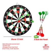 Papan Sasaran Dart Board 2 Sisi Lempar Jarum Darts 15 Inch tebal 12mm