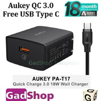 Aukey Quick Charge 3.0 free USB Type C Fast Charger PA-T17 Original