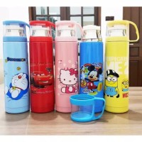 Termos Cangkir Karakter Tahan Panas 500 ML Hello Kitty Doraemon Cars M