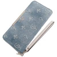 guess dompet wanita blue denim ori