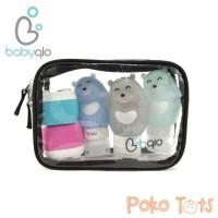 BabyQlo Silicone Travel Bottle Set Bear Tempat Pill dan Botol Sabun