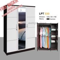 lemari pakaian 3 pintu minimalis putih lemari baju