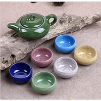 Tea Set Ice Cracked Glaze / Teko Cangkir Keramik Peralatan Minum Teh