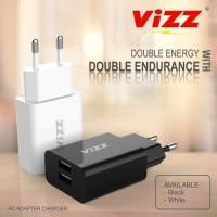 NEW VIZZ CHARGE VZ-TC12 CAS ADAPTER BATOK CHARGER 2.1 DUAL USB origina
