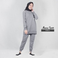 Baju Senam Wanita Muslim AISYE ORIGINAL Baju Olahraga Sporty Muslimah